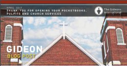 THANK – YOU FOR OPENING YOUR POCKET BOOKS , PULPITS AND CHURCH SERVICES