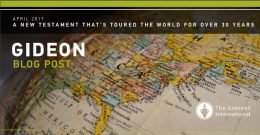 A NEW TESTAMENT THAT'S TOURED THE WORLD FOR OVER 30 YEARS
